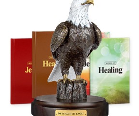 Determined Eagle Bronze & Words of Jesus / Words of Healing paperback & hardcover